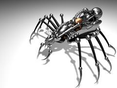 A robot spider.  Last spider on the page.  Promise.