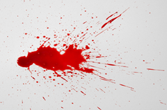 An example of blood spatter