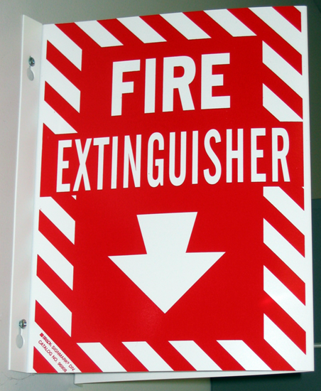 The arrow is pointing to the experiment text which describes how to make a homemade fire extinguisher