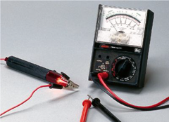 A DC microammeter is an instrument that measures the electric current in a circuit