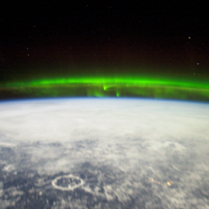 Aurora (norther/southern) lights seen from space