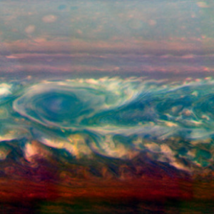 Churning atmosphere on Saturn