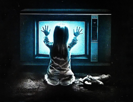 Notable scene from the movie Poltergeist where the little girl absorved way too many EMFs for her age
