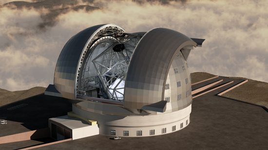 This is what the European Extremely Large Telescope (E-ELT) telescope is expected to look like