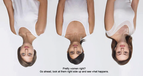 These women appear perfectly normal when upside down