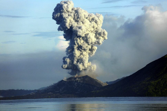 Mount Tavurvur Papua New Guinea 2014 eruption