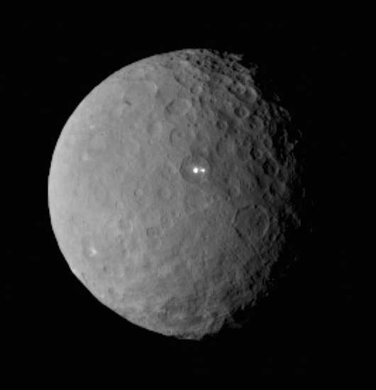What are the bright flashes coming from Ceres, the dwarf planet between Mars and Jupiter?