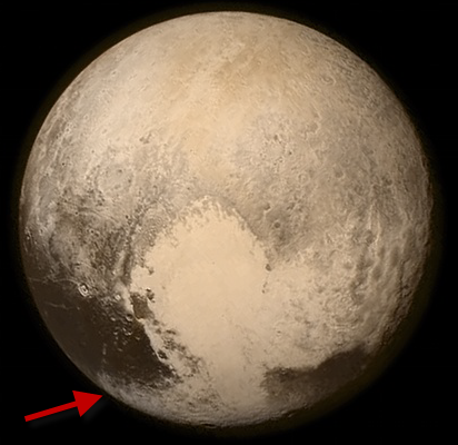 Planet Pluto from New Horizon space probe