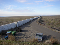 The northern leg of LIGO interferometer in Hanford, Washington