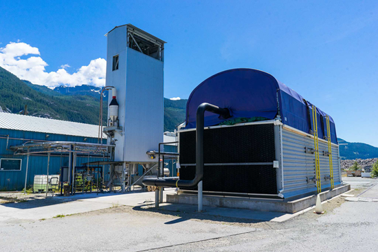 Carbon Engineering's machine used to remove CO2 from the air