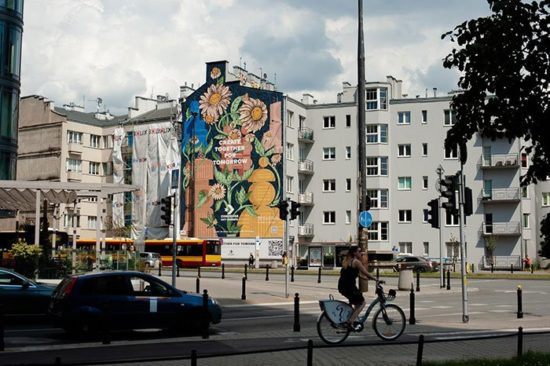 Photocatalytic paint mural in Warsaw