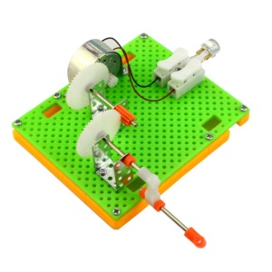 Hand crank electricity generator science kit