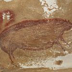 45,500 year old painting of a wart hog in Indonesian cave