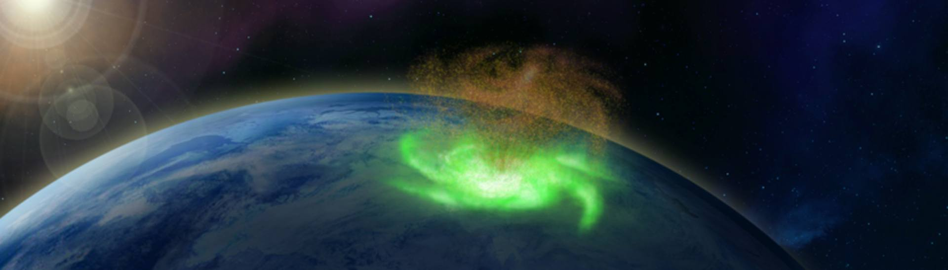 Space Hurricane above the North Pole